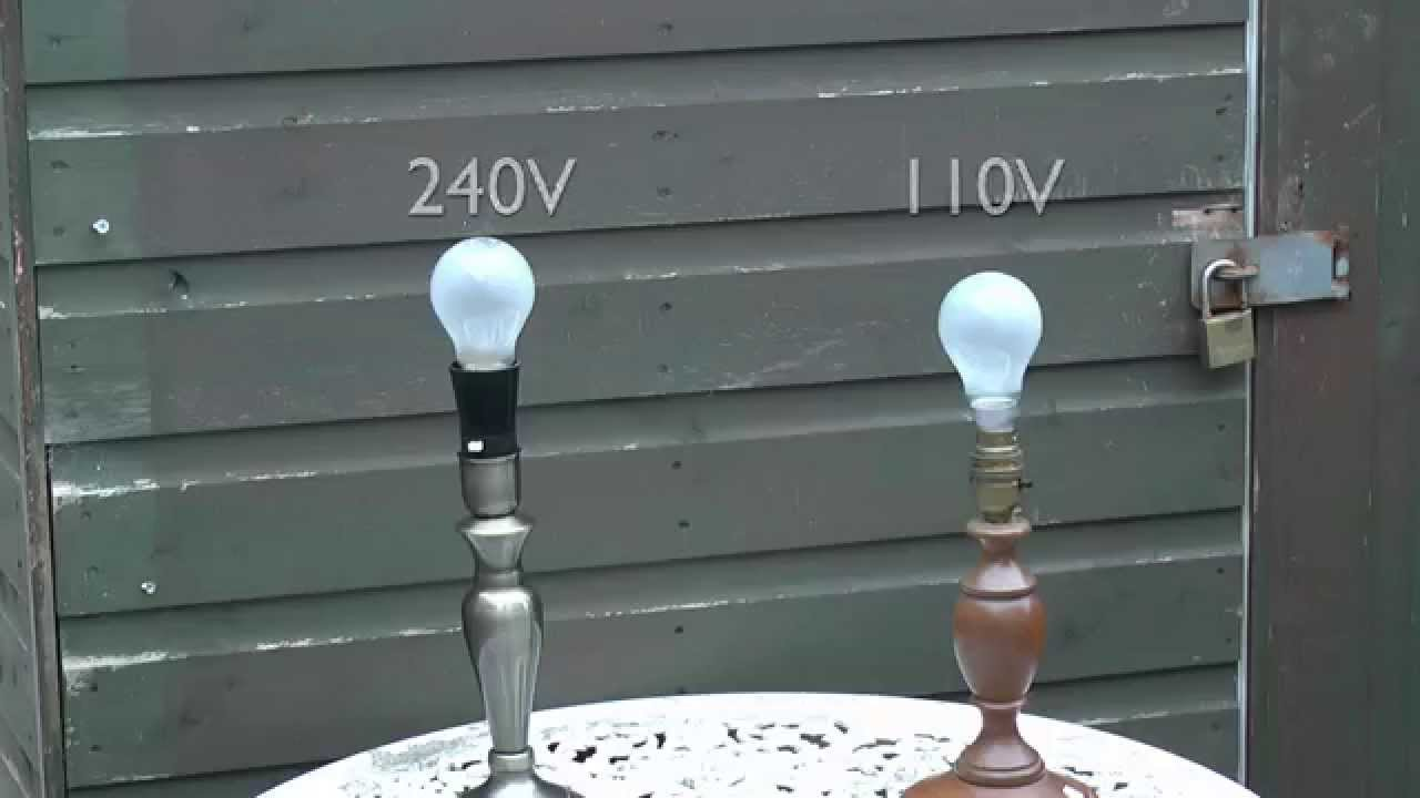 60w Incandescent Lamps 240v And 110v Youtube Two Lightbulbs On A Parallel Circuit With One Light Switch