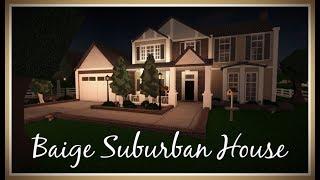 Beige Suburban House 195K | Roblox: Welcome to Bloxburg Speedbuild