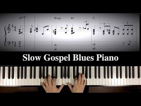 """Ray's Mood"" Slow Gospel Blues Piano with Sheetmusic"