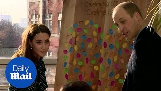 Prince William and Kate Middleton visit children's hospital