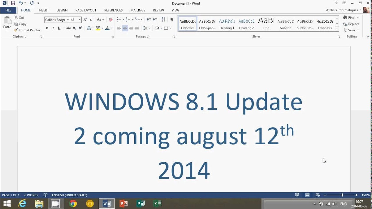 5b910fefe13f8 Windows 8.1 Update 2 coming august 12th 2014 - YouTube