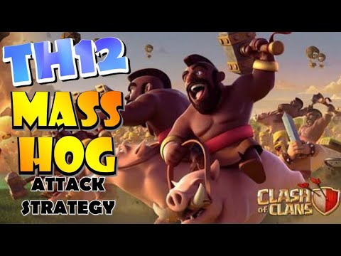 TH12 MASS HOG DOMINATION! Winning The Clan War Leagues - Best TH12 Attack Strategies For 3 Stars