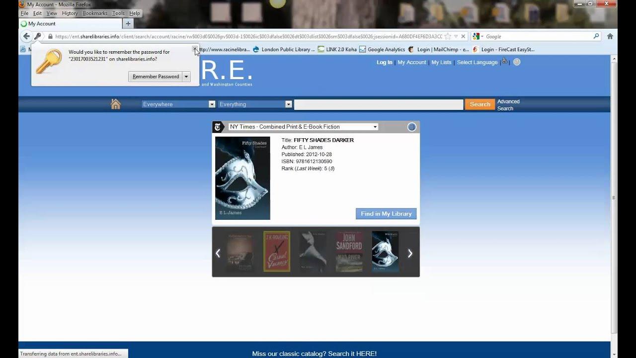 Renewing Materials – Racine Public Library