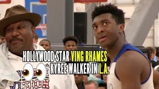 Kyree Walker Holds Off Double Pumps BUZZER BEATER in front of VING RHAMES AKA