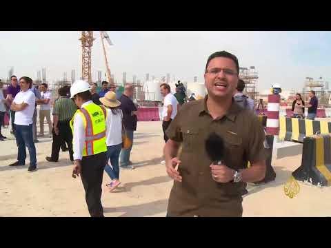 الصحفيون الأجانب يعاينون أضخم ملاعب مونديال قطر  - 01:21-2017 / 11 / 22