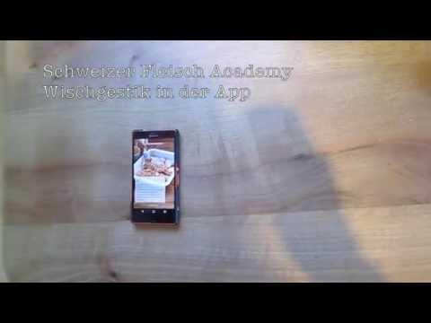 Schweizer Fleisch Academy - Wischgestik in der App