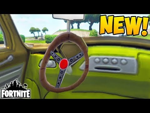 fortnite how to get in a car