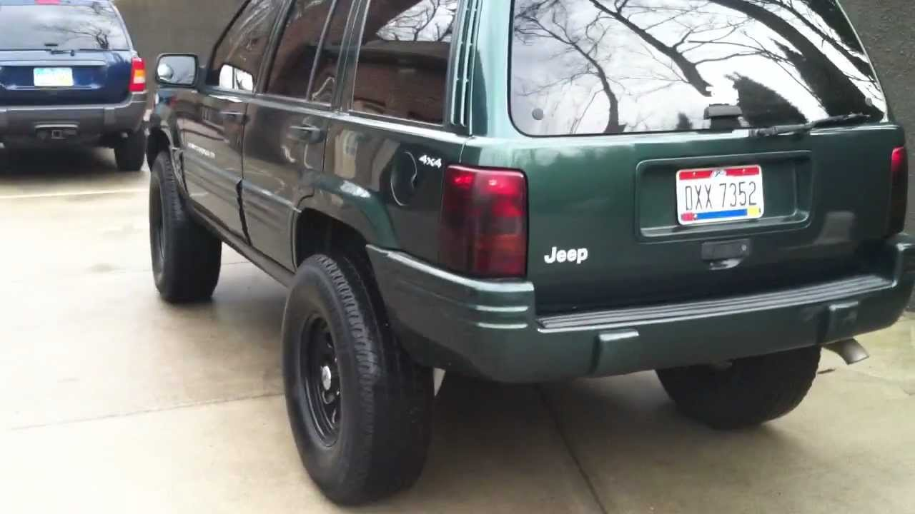 lifted jeep grand cherokee w/ flowmaster exhaust - youtube