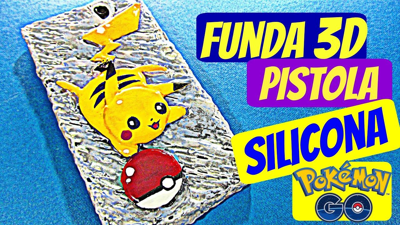 Funda casera para m vil celular de silicona pikachu - Manualidades con silicona ...