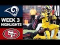 Rams vs. 49ers | NFL Week 3 Game Highlights
