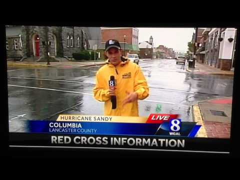 Weather Reporter gets video bombed on live news WGAL Weatherman