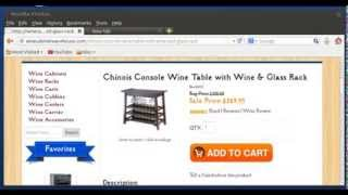 Wine Table / Chinois Console Wine Table With Wine & Glass Rack