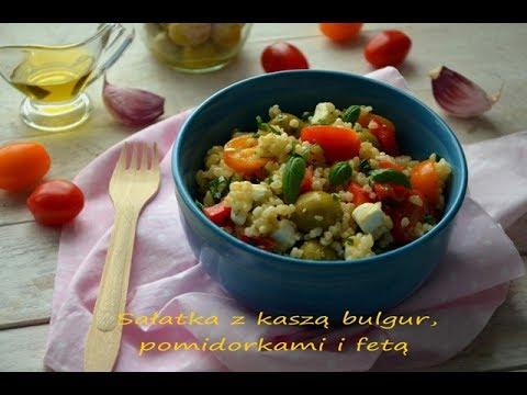 Sałatka Z Kaszą Bulgur Pomidorkami I Fetą Talerzpokustv