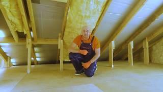 Утепление крыши дома с помощью Isover Теплая Крыша