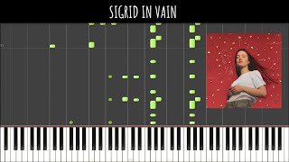Sigrid - In Vain (Piano Tutorial & Cover) Sachin Sen Video