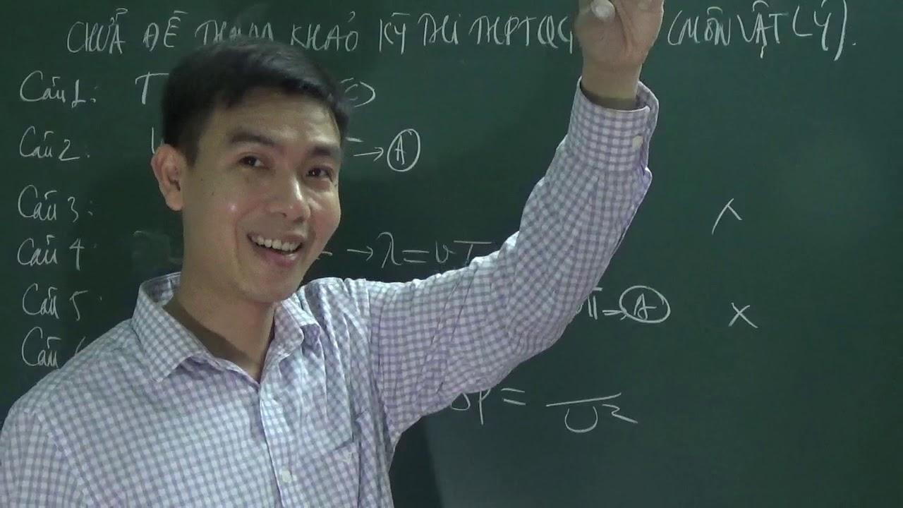 Chữa đề tham khảo kỳ thi THPTQG 2020 môn Vật lý