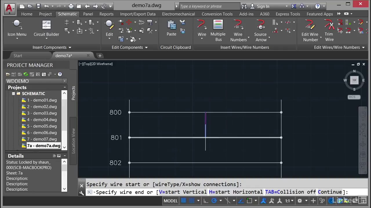 inserting wires autocad electrical essential training from linkedin learning [ 1280 x 720 Pixel ]