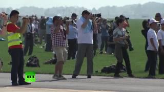 بالفيديو: كوريا الشمالية تنظم أول عرض جوي عام رغم العقوبات