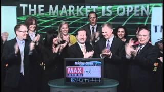 Midas Gold Inc. (MAX:TSX) opens Toronto Stock Exchange, October 4, 2011.