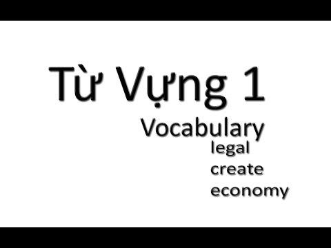 Tu Vung 1 / Vocabulary: Legal, create, economy...