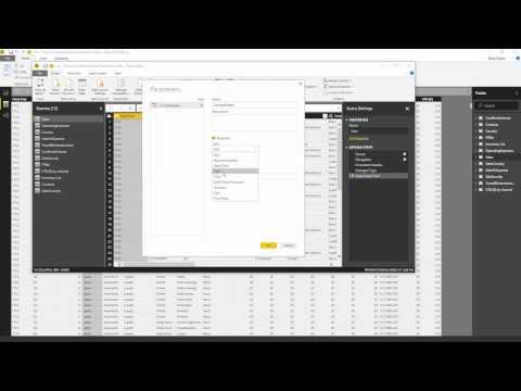 Power BI Desktop Import Parameters