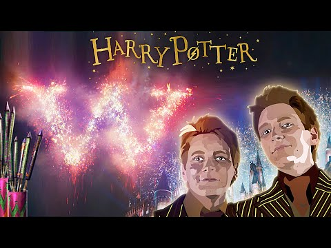Weasley's Fireworks [ASMR] Harry Potter Inspired Ambience ✨ Fred And George's Hogwarts Firework Show