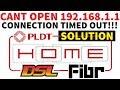أغنية Cannot Access 192.168.1.1 PLDT Wifi Router Admin Login Page Connection Timed Out #LINTECHph DSL Fibr