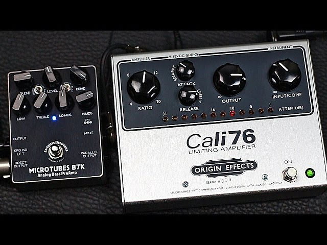 Origin Effects Cali76-TX Limiting Amplifier - BASS Demo