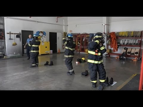 Navy Firefighter Recruits Complete Training