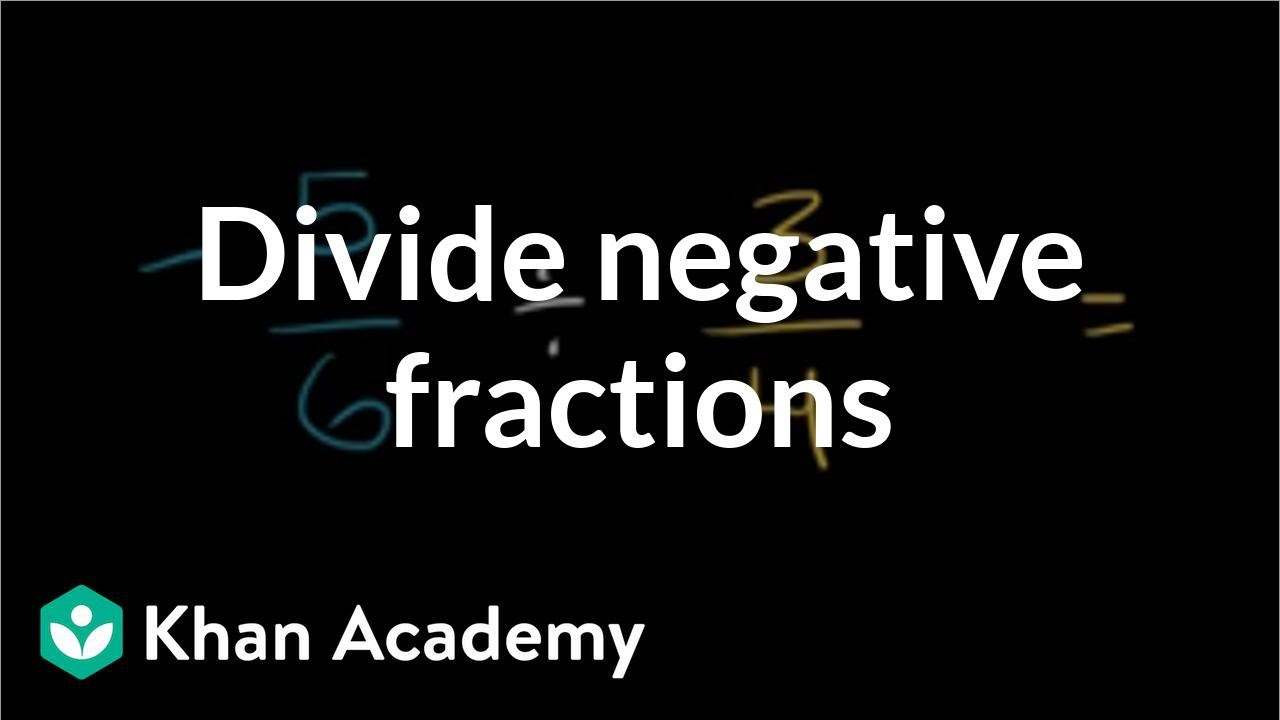 Dividing negative fractions (video)   Khan Academy