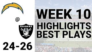 Chargers vs Raiders Highlights Week 10 | NFL 2019