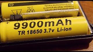 Аккумулятор 18650 9900 mAh  3.7v