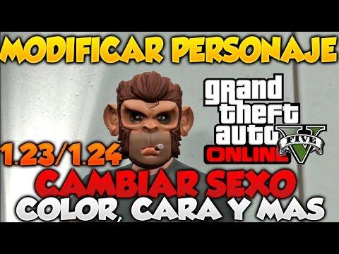 GTA 5 ONLINE 1.23/1.24 MODIFICAR AL PERSONAJE PRINCIPAL CAMBIAR SEXO COLOR Y MAS FACIL GTA V ONLINE