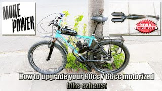 How to upgrade your 80cc motorized bike exhaust