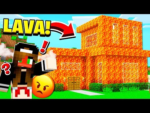 Turning HER House Into LAVA **PRANK** in Minecraft!