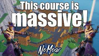 Massive Obstacle Course! Fortnite Battle Royal Creative Mode