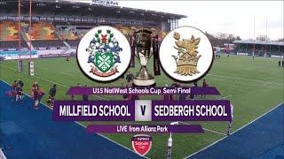 U15s NatWest Schools Cup Semi Final Highlights Millfield v Sedbergh