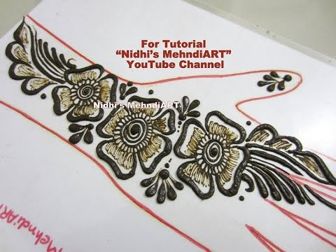Mehndi Art Step By Step : Beautiful shaded arabic floral henna mehndi design tutorial step
