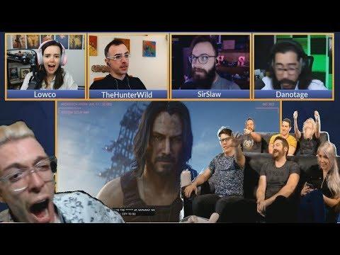 KEANU REEVES (JOHN WICK) IS IN CYBERPUNK 2077 REACTION COMPILATION E3 2019