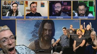 KEANU REEVES (JOHN WICK) IS IN CYBERPUNK 2077 REACTION COMPILATION E3 2019