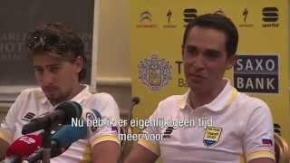 Een kanarie voor 'gele' Alberto Contador