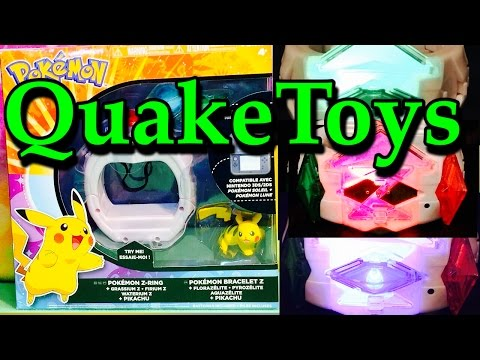 New Hot Toy Tomy Pokemon Z Ring Interactive Crystals Set ZMoves Sun and Moon Plus Pikachu QuakeToys