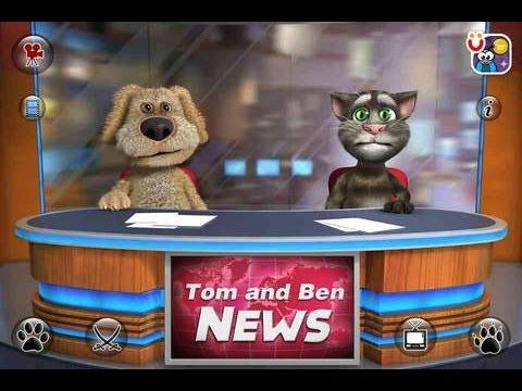talking tom talking ben news