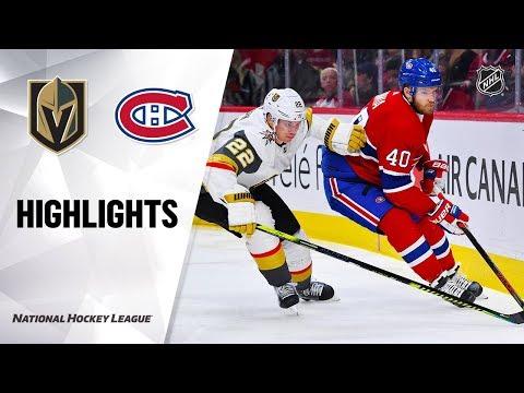 NHL Highlights | Golden Knights @ Canadiens 1/18/20