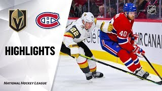 NHL Highlights | Golden Knights @ Canadiens 1/18/20
