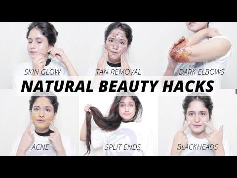 12 Natural BEAUTY HACKS For SKIN, HAIR, & BODY CARE Routine | Anukriti Lamaniya - YouTube