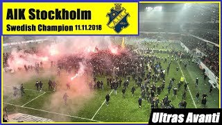 Aik Stockholm Celebrate Becoming Swedish Champion 2018 Youtube