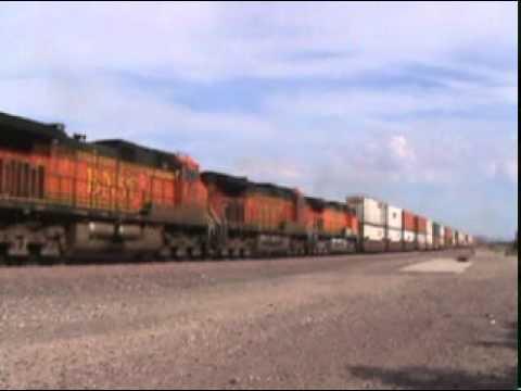 A Day At Daggett, CA:  44 Trains!