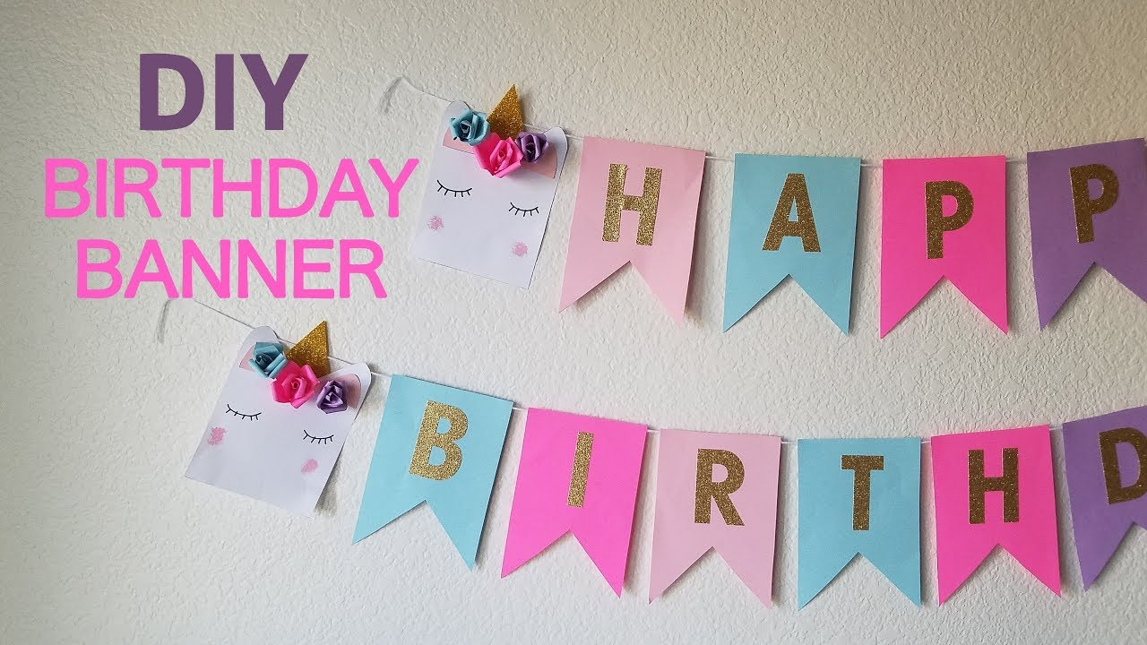 diy unicorn birthday banner youtube