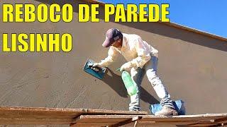 DESEMPENANDO REBOCO DE UMA PAREDE.
